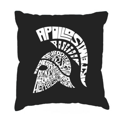 Los Angeles Pop Art SPARTAN Throw Pillow Cover