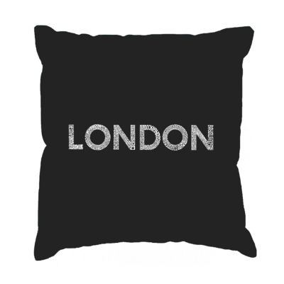 Los Angeles Pop Art LONDON NEIGHBORHOODS Throw Pillow Cover