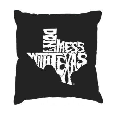 Los Angeles Pop Art DONT MESS WITH TEXAS Throw Pillow Cover