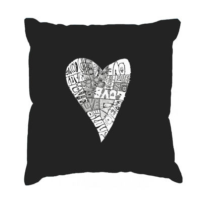 Los Angeles Pop Art Lots of Love Throw Pillow Cover