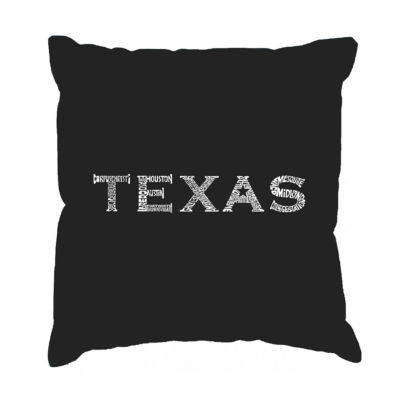 Los Angeles Pop Art THE GREAT CITIES OF TEXAS Throw Pillow Cover