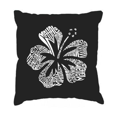 Los Angeles Pop Art Mahalo Throw Pillow Cover