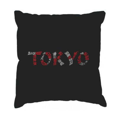 Los Angeles Pop Art THE NEIGHBORHOODS OF TOKYO Throw Pillow Cover
