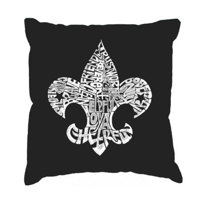 Los Angeles Pop Art 12 Points of Scout Law Throw Pillow Cover