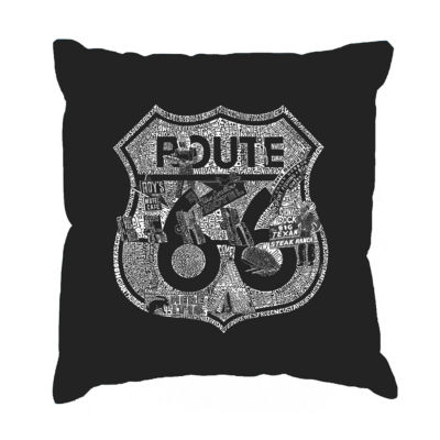 Los Angeles Pop Art Stops Along Route 66 Throw Pillow Cover