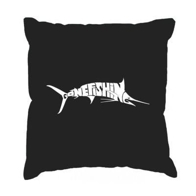Los Angeles Pop Art Marlin - Gone Fishing Throw Pillow Cover