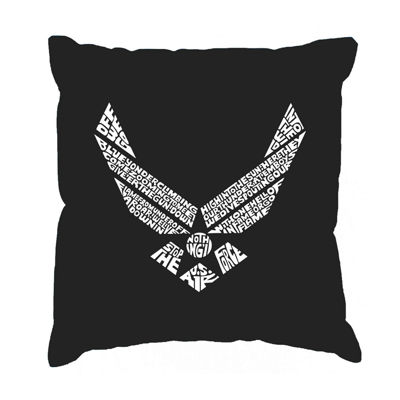 Los Angeles Pop Art LYRICS TO THE AIR FORCE SONG Throw Pillow Cover