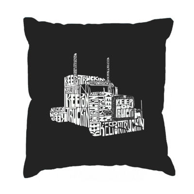 Los Angeles Pop Art KEEP ON TRUCKIN' Throw PillowCover