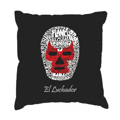 Los Angeles Pop Art MEXICAN WRESTLING MASK Throw Pillow Cover