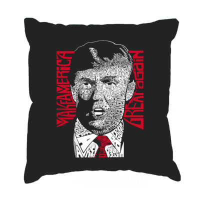 Los Angeles Pop Art TRUMP  - Make America Great Again Throw Pillow Cover