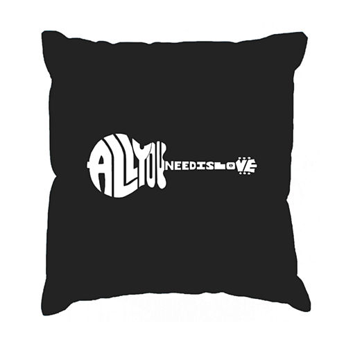 Los Angeles Pop Art All You Need Is Love Throw Pillow Cover