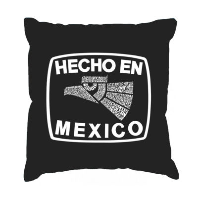 Los Angeles Pop Art HECHO EN MEXICO Throw Pillow Cover