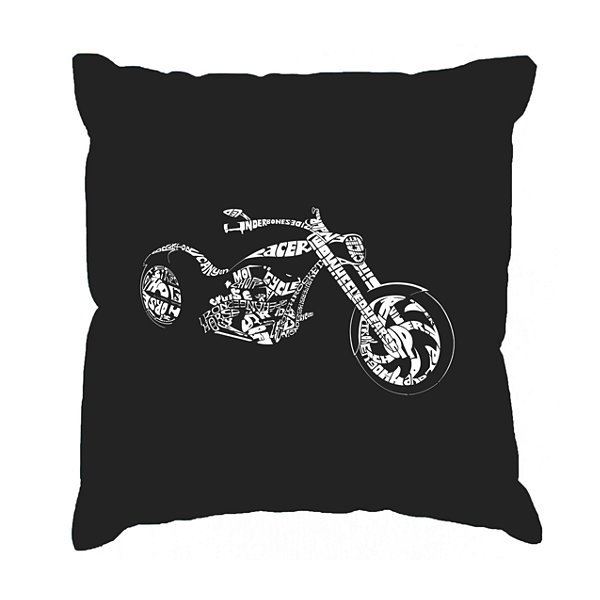 Los Angeles Pop Art MOTORCYCLE Throw Pillow Cover