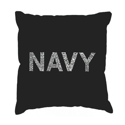 Los Angeles Pop Art LYRICS TO ANCHORS AWEIGH ThrowPillow Cover