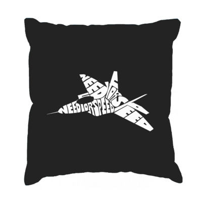 Los Angeles Pop Art FIGHTER JET - NEED FOR SPEED Throw Pillow Cover