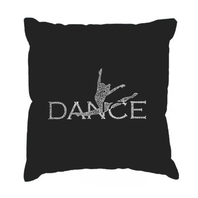 Los Angeles Pop Art Dancer Throw Pillow Cover