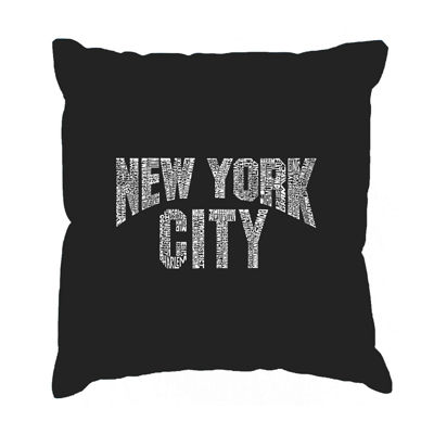 Los Angeles Pop Art NYC NEIGHBORHOODS Throw PillowCover