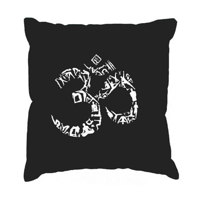 Los Angeles Pop Art THE OM SYMBOL OUT OF YOGA POSES Throw Pillow Cover