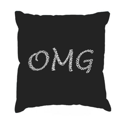 Los Angeles Pop Art OMG Throw Pillow Cover
