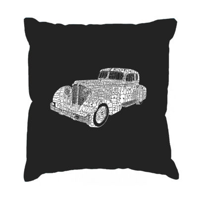 Los Angeles Pop Art Mobsters Throw Pillow Cover