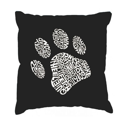 Los Angeles Pop Art Dog Paw Throw Pillow Cover