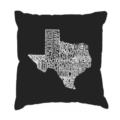 Los Angeles Pop Art The Great State of Texas ThrowPillow Cover