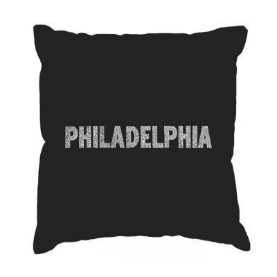 Los Angeles Pop Art PHILADELPHIA NEIGHBORHOODS Throw Pillow Cover