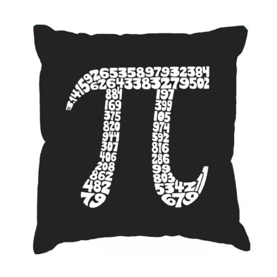 Los Angeles Pop Art THE FIRST 100 DIGITS OF PI Throw Pillow Cover