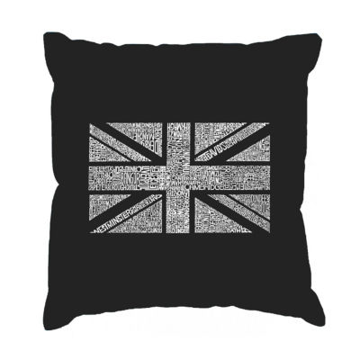 Los Angeles Pop Art UNION JACK Throw Pillow Cover