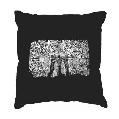 Los Angeles Pop Art Brooklyn Bridge Throw Pillow Cover