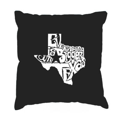 Los Angeles Pop Art Everything is Bigger in TexasThrow Pillow Cover
