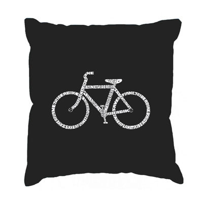 Los Angeles Pop Art SAVE A PLANET RIDE A BIKE Throw Pillow Cover