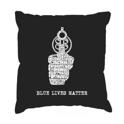 Los Angeles Pop Art Blue Lives Matter Throw PillowCover