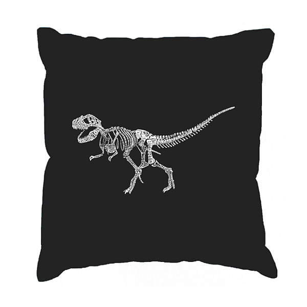 Los Angeles Pop Art Dinosaur T-Rex Skeleton ThrowPillow Cover
