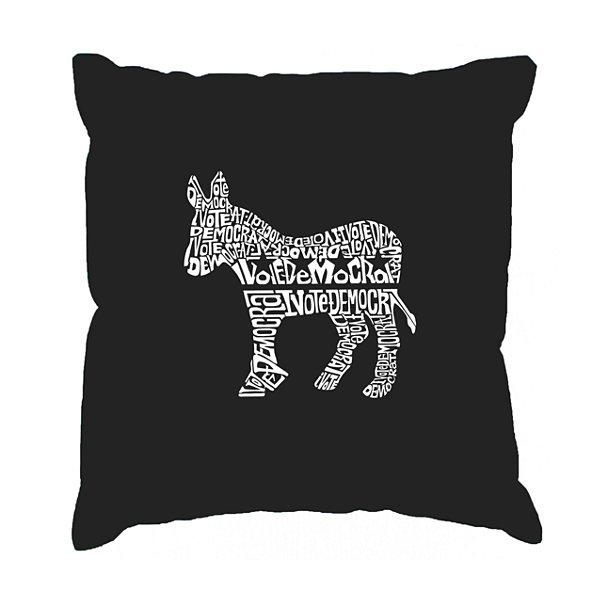 Los Angeles Pop Art I Vote Democrat  Throw PillowCover