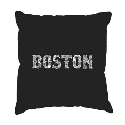 Los Angeles Pop Art BOSTON NEIGHBORHOODS Throw Pillow Cover