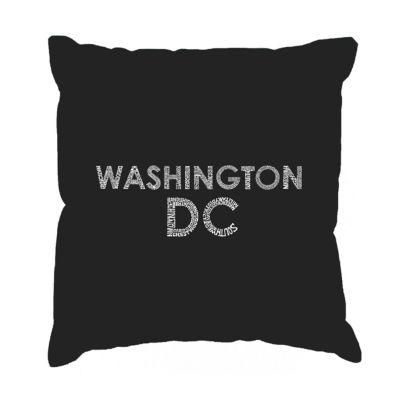 Los Angeles Pop Art WASHINGTON DC NEIGHBORHOODS Throw Pillow Cover