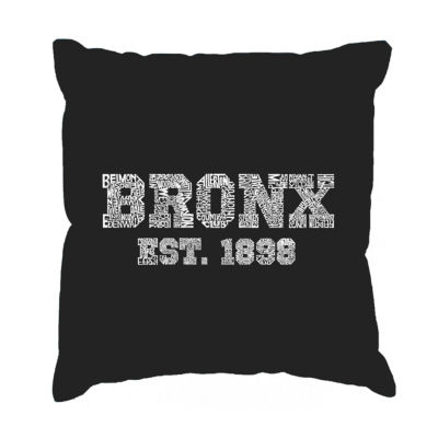 Los Angeles Pop Art POPULAR NEIGHBORHOODS IN BRONXNY Throw Pillow Cover