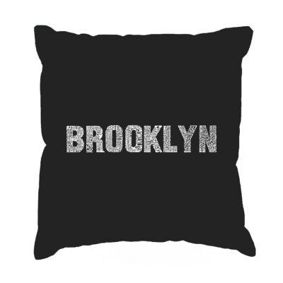 Los Angeles Pop Art BROOKLYN NEIGHBORHOODS Throw Pillow Cover