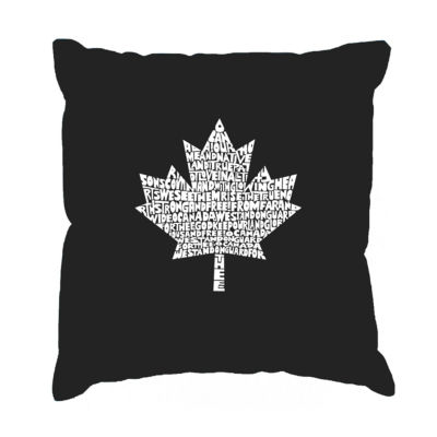 Los Angeles Pop Art CANADIAN NATIONAL ANTHEM ThrowPillow Cover