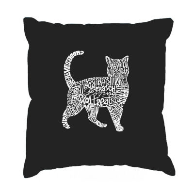 Los Angeles Pop Art Cat  Throw Pillow Cover