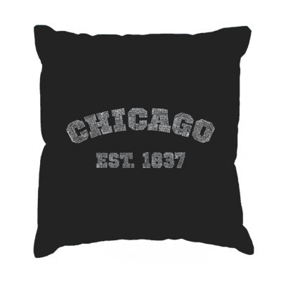 Los Angeles Pop Art Chicago 1837 Throw Pillow Cover