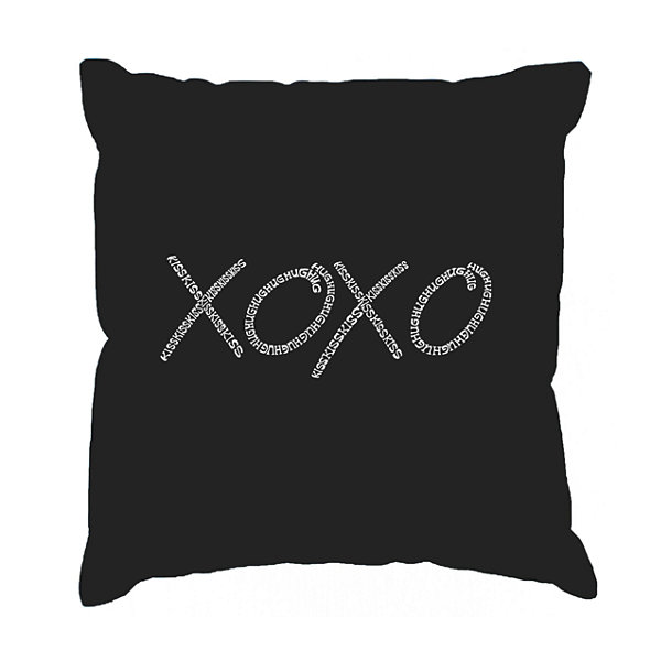 Los Angeles Pop Art XOXO Throw Pillow Cover