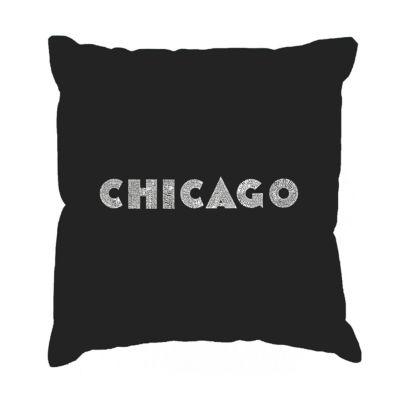 Los Angeles Pop Art CHICAGO NEIGHBORHOODS Throw Pillow Cover