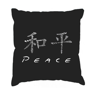 Los Angeles Pop Art CHINESE PEACE SYMBOL Throw Pillow Cover