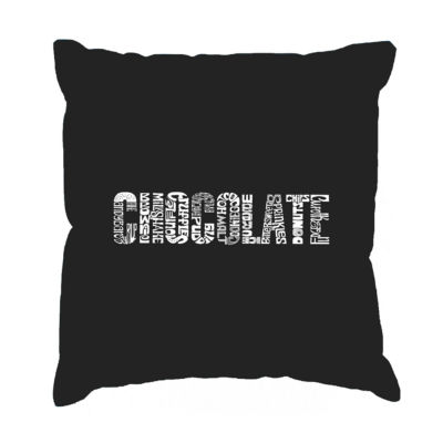 Los Angeles Pop Art Different foods made with chocolate Throw Pillow Cover