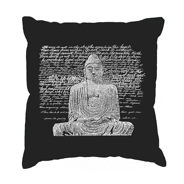 Los Angeles Pop Art Zen Buddha Throw Pillow Cover