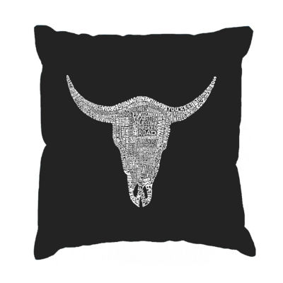 Los Angeles Pop Art COUNTRY MUSIC's ALL TIME HITSThrow Pillow Cover