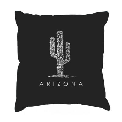 Los Angeles Pop Art  Arizona Cities Throw Pillow Cover