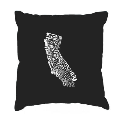 Los Angeles Pop Art  California State Throw PillowCover